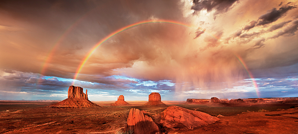 Rainbow Monument Valley color Fred Newman
