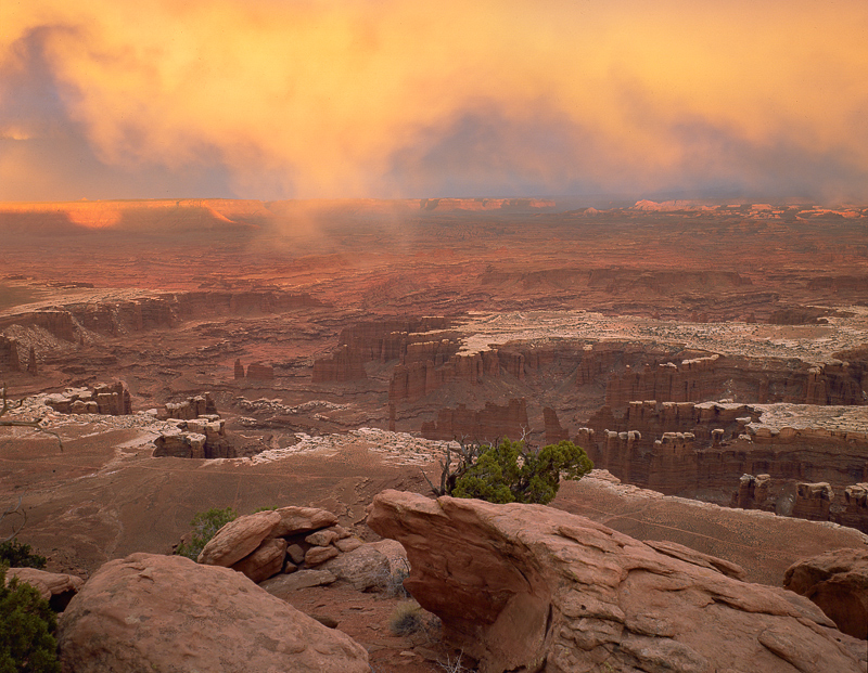 Sunset, Grandview Point, 1994. Canyonlands National Park, Utah