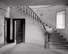 Hotel Interior, Bannack, Montana. Limited edition black and white photograph