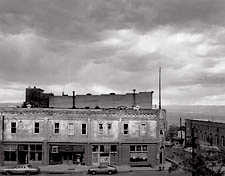 Storm Over Jerome, Arizona. Black and white photograph
