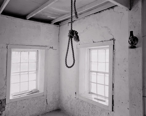 Noose, Shakespeare, New Mexico. Limited edition black and white photograph