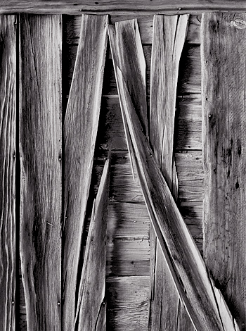 Weathered Boards, Bannack, MY. Limited edition black and white photograph