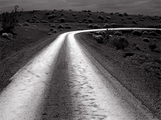 Road Near Ubehebe Crater, Death Valley, California. Limited edition black and white photograph
